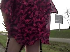 transgender travesti sounding urethral outdoor road 10a