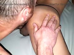 Couple double creampies gaping petite asian power bottom