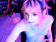 Shemale tranny enjoying solo masturbation