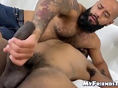 August Habarcs - Restrained Black Stud Deepthroated By Dominant Gay Stud