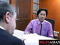 Asian twink barebacked by older www pedo stars com in office