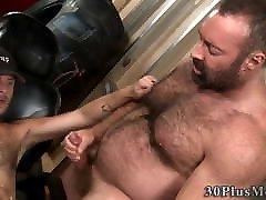 Gay bear licking and fucking ass