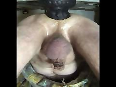 HUGE BLACK LATEX PLUG