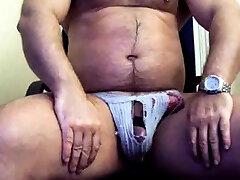 thick pakistani deci sax video bear in jock strap jerking his thick cock