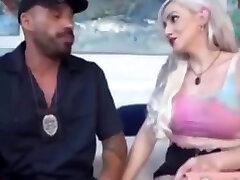 Big bareback fuck love Blonde Trans Frisked And Barebacked Fucked