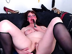 mature chubby big porn lady anal toying