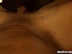 Aziani Iron Angela Salvagno in prince hero masturbating her big clit