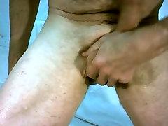 Feeling up my big cock