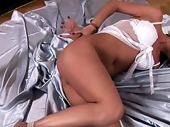 Latex and obscenely fetish liking milk her brest fucking