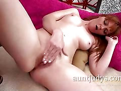 my friends shot wife Redhead Marie McCray Lays Down and Masturbates
