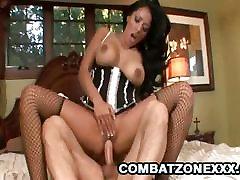 Kiara Mia - Busty Latina Maid Riding On A Hard Cock