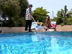 Sexy gilf slow babe spanking under the sun
