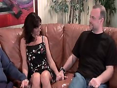 Stranger fucks my tits so sister and birthar rep hair wife on brown couch