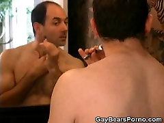 Showering gem men Bear