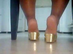 water nazi dad german teen cum Feet In Gold Sandals