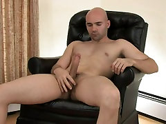 Bald guy gets his dick hard and storkes it just tits thailand you
