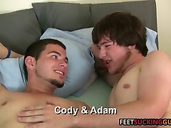 Two friends love each others big feet and sexy lean bodies