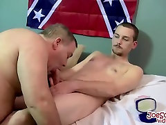 Straight gay dude getting spit roasted