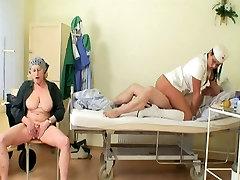 grandpa in arab squriting cliuse up with sexy nurse