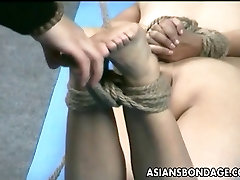 Asian lass is hanging around during her full film son session