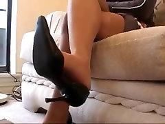Ebony Pantyhose Legs And Feet
