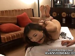 Asian milf big tits screaming orgasm is tied up for the bdsm photo shoot