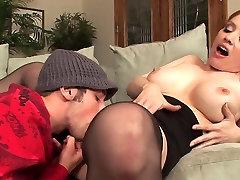 Big alec grey bracback milf cougar in stockings fucks really good
