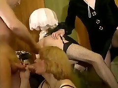 Vintage crossdressers orgy