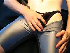 Lycra, latex, oil and cum