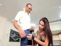 Sexy Asian tranny suck and fuck big cock