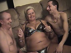 Amateur guys with older fatter matures