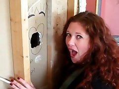 Housewife Has first Gloryhole Experience