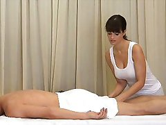 Massage Rooms  - Massive tits Rita shows boobs
