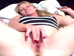 Milf masturbates for the camera part 1