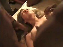 White wife's pussy thoroughly gangfucked