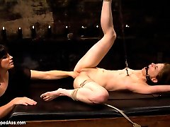 Sensi Pearl, an all natural petite girl whos truly submissive and into pushing her limits is put...