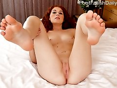 Alice can't wait to have her feet worshipped, and her man is ready to fill that role. But just as long as she can give him a footjob, he is ready to do anything. Once she gets his cock throbbing hard between her feet, she needs that cock deep inside her. He fucks her perfect little pussy and blasts his load all over her pretty soles.
