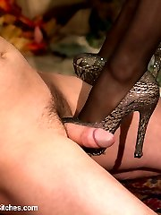 Isis Love takes a fancy to Michael Bridalveil and uses him for her sadistic pleasures.  She repeatedly brings him to the brink of orgasm with teasing, pussy licking, foot worship, and ass licking, only to hold him back with caning, CBT, flogging, and whipping.  After she pounds him hard in the ass with her strap-on, Isis rides his cock for her pleasure, before shoving his dirty slave boy cum into his own mouth.  A beautiful balance between pleasure and pain;  Isis Love in her most sensual movie to date.