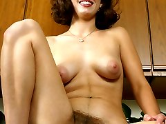 Cutie with perfect tits and nipples and a lovely hairy pussy  gelery