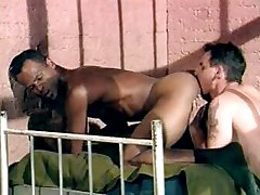 Horny black pounding gorgeous white ass in a prison fuckfest.