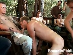 Logan Stevens is dragged down from the woods to be used at the cabin by the horny campers. They...