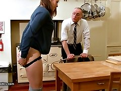 Slovenly Simpson - caned in the kitchen