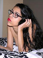Petite And Skinny Black Girl Modeling Nude - Lucinda Model