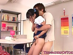 Japanese teen girlfriend cocksucking bf dick