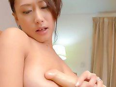Yayoi Yanagida Asian enjoys shower and fucks pussy with fake cock
