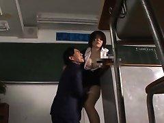 Rin Ogawa Japanese teacher gives blowjob in JpTeacher.com