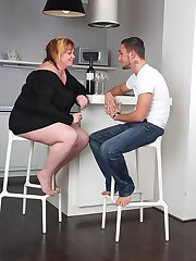 He dates a hot slender chick but he chooses to go home with and fuck this plumper slut