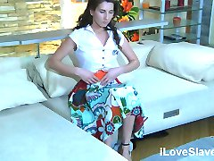 Brunette has to surrender her body for master's kinky demand