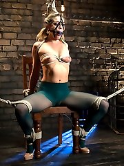 Welcome newcomer Bailey Blue to Whipped Ass. Bailey is new to punishment and submission but comes with an eagerness to learn and please. Maitresse Madeline shows Bailey the ropes and teaches her that all little pain sluts have to start at her feet. Bailey takes gloved OTK spankings, evil zipper, pussy torture and is made to lick Madeline\'s pussy to earn a deep strap-on anal fuck!