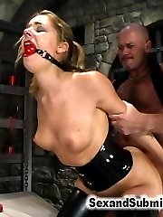 The beautiful and very submissive Cherry Torn returns with new guy Xander Corvus! In this...